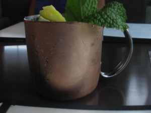 This mule made with vodka and ginger beer was so refreshing.