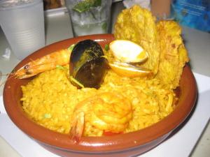 Puerto Rico - Seafood Paella at La Cueva Del Mar