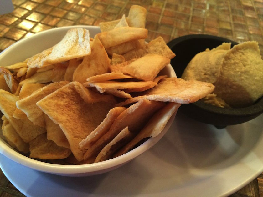 Here is my appetizer of pita chips and their house-made hummus. Nothing to see here... just hummus and chips. But it was good.
