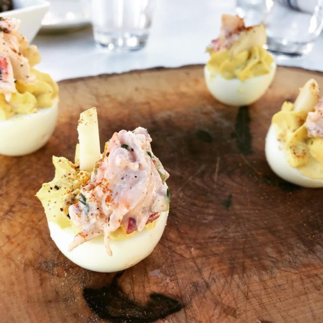Lobster boil deviled eggs made the perfect Friday appetizer! Thankshellip